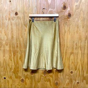 Banana Republic Gold Corduroy Aline Skirt